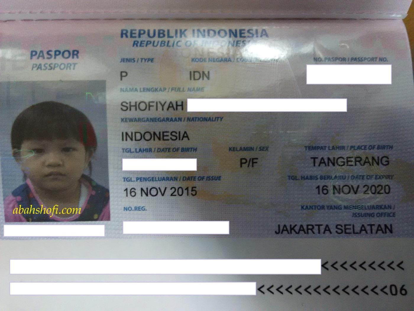 paspor shofiyah
