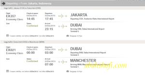 Tiket Persiapan perjalanan Jakarta Manchester